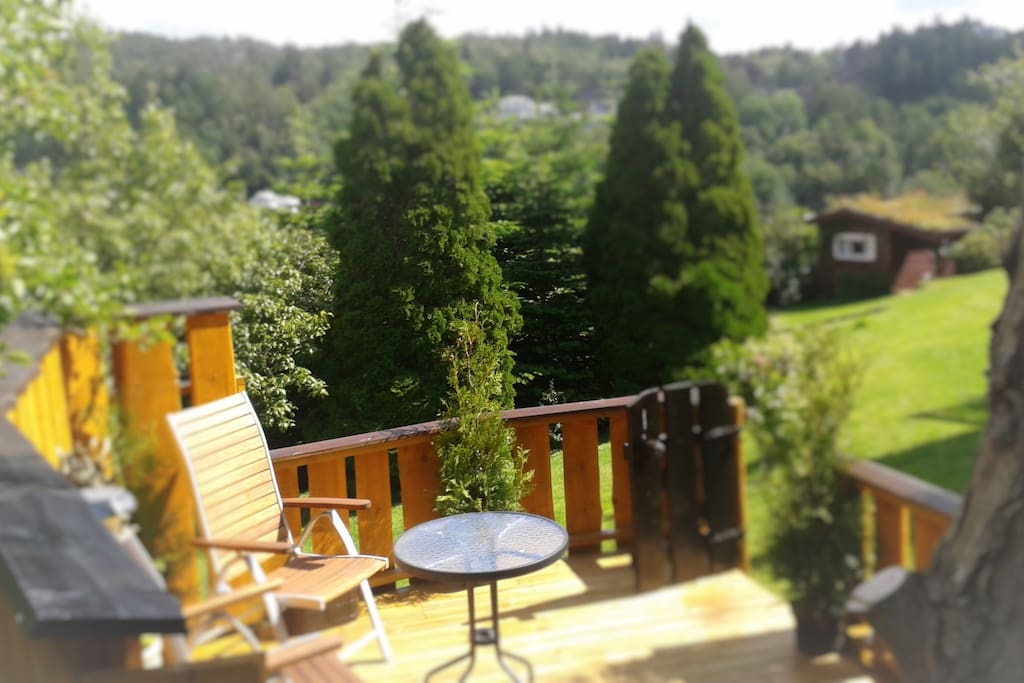Your own Terrace with view to the hills