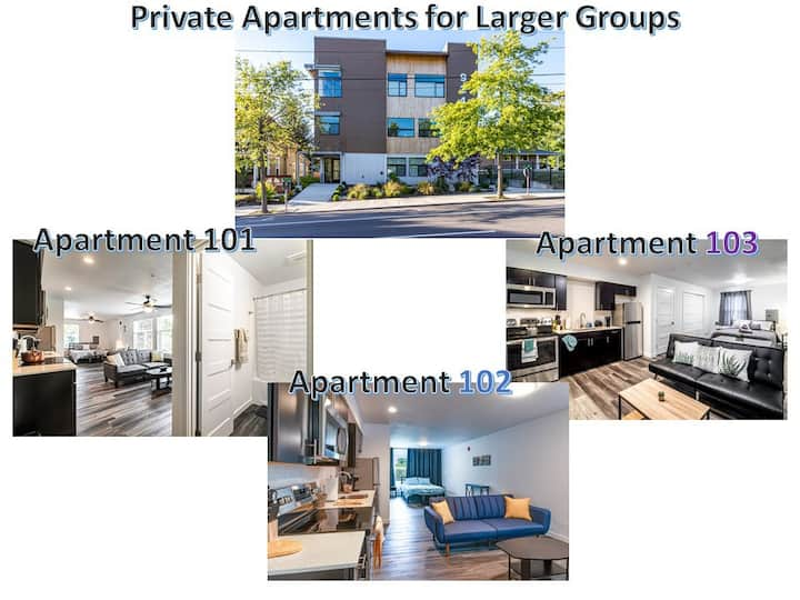 Best Group Travel / 3 Apartments / Private/Fam/Fun