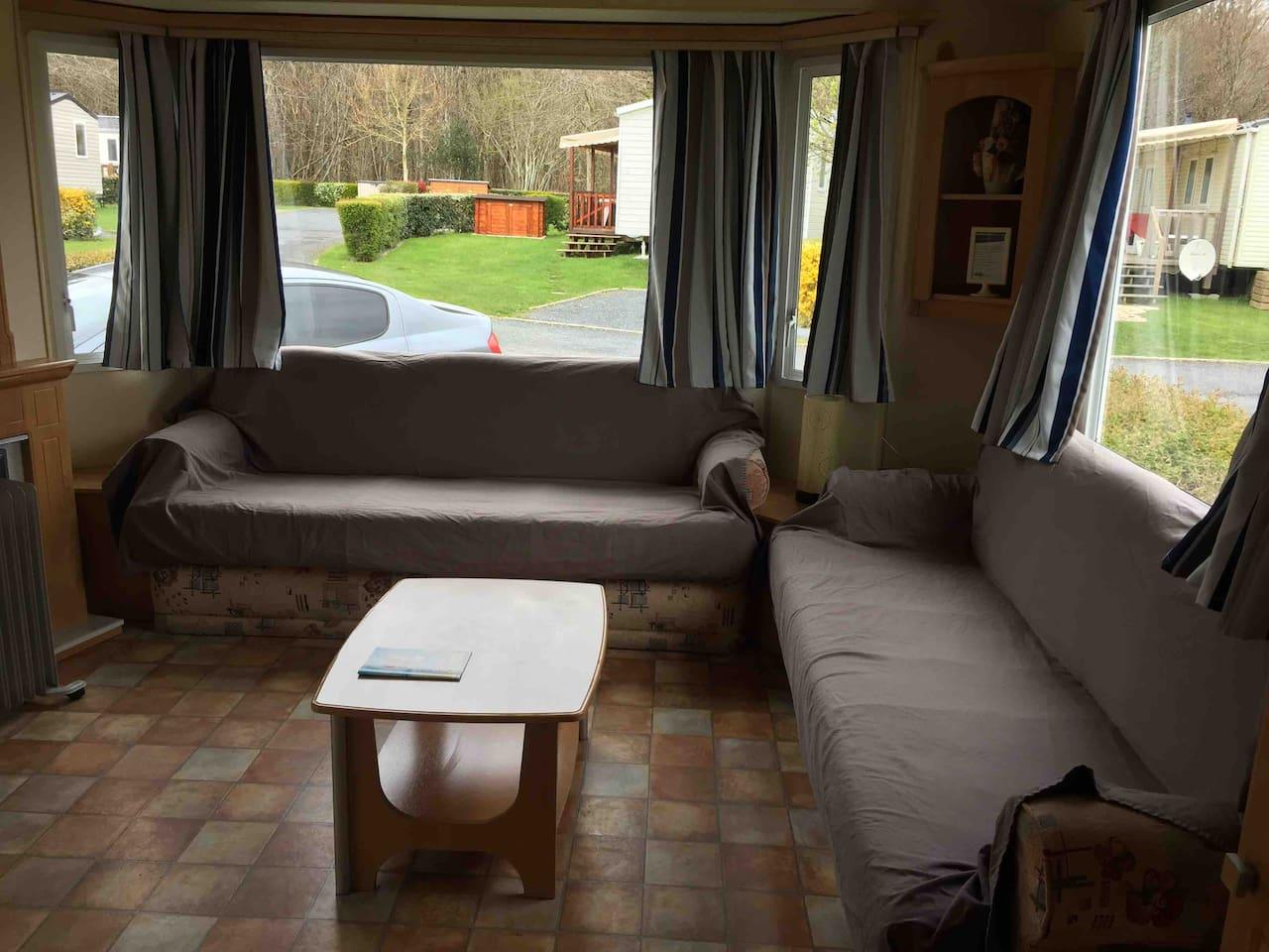 Housse De Canape Pour Mobil Home mobilhome camping siblu 4* - chalets à louer à litteau
