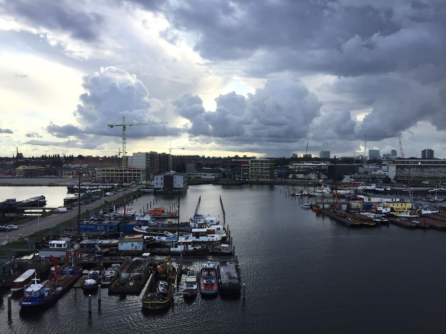 Harbour view of Amsterdam West