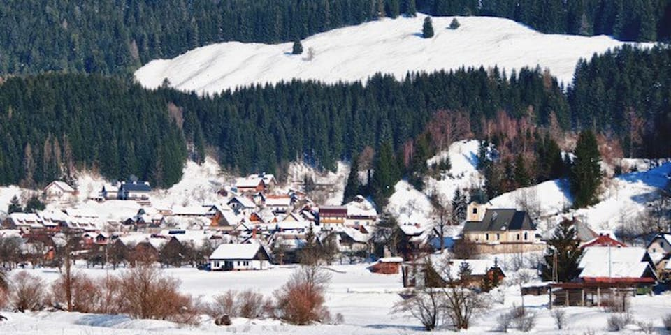 Ratece village in Winter time