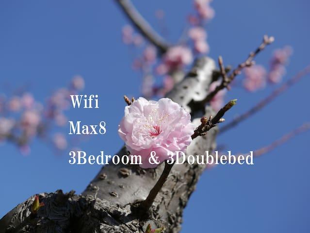 ★Marvellous Location★ Max8 Yokohama Chinatown Wifi - 横浜市 - Talo