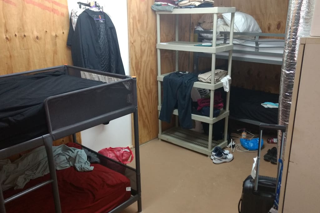 Bunks, view of most of room.