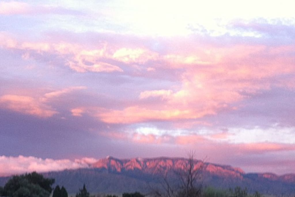 Beautiful views of the mountains and gorgeous sunsets