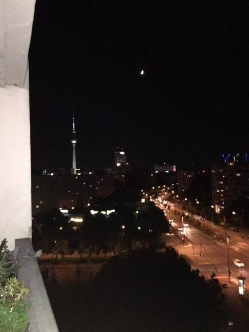 View from balcony, TV-tower/Alexanderplatz