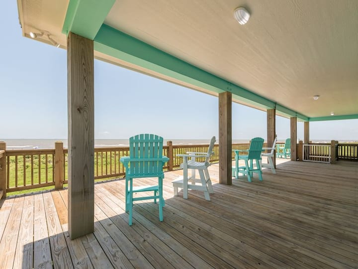 Island Time, Beachfront, Dog Friendly, Crystal Beach, Bolivar, Texas