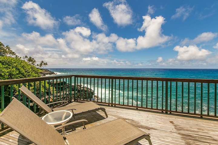 Poipu Shores 101B: AC, Oceanfront Deck, Pool Access