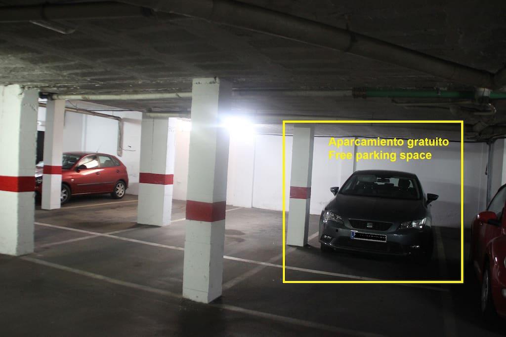 Plaza de aparcamiento privado para los huéspedes