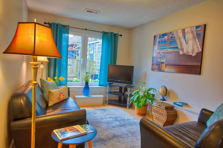 Fernwood 2 bedroom suite for monthly rental