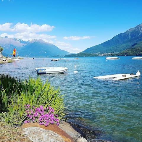 Caravan for rent at walking distance Lake Como