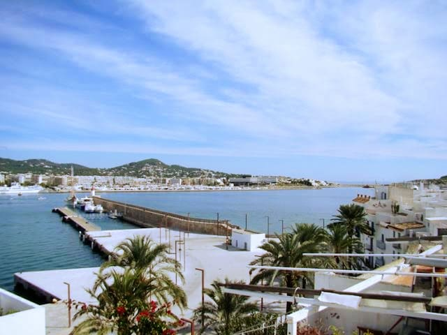 Apartment 2 terraces,  view sea and Ibiza town