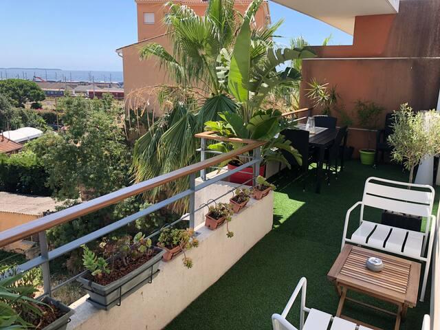 Duplex terrace sea view