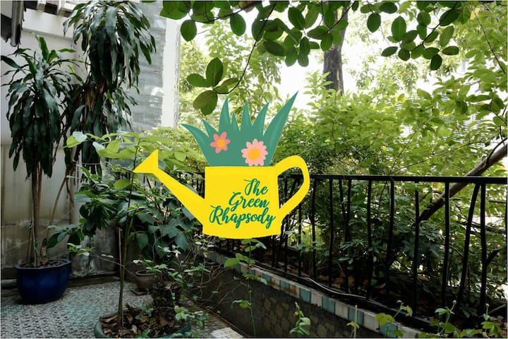 Rhapsody is a piece of music that has no formal structure and expresses powerful feelings. My garden is the green rhapsody in a sense that I grow whatever plants that look or sound interesting to me.