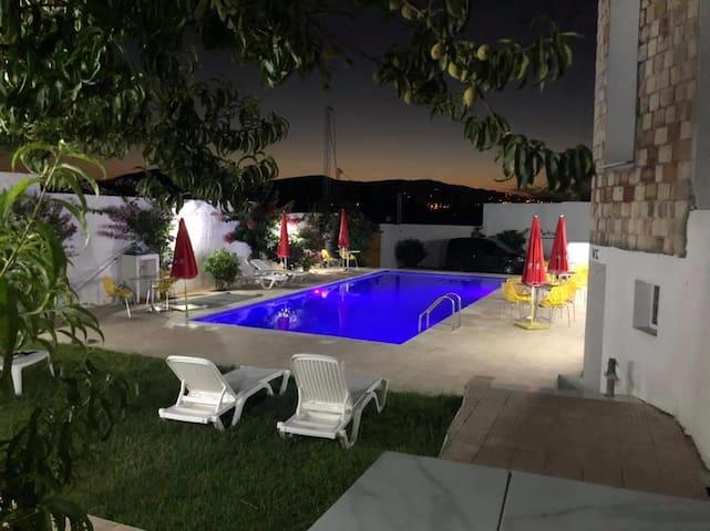 S+1 avec piscine, restaurant et belle vue