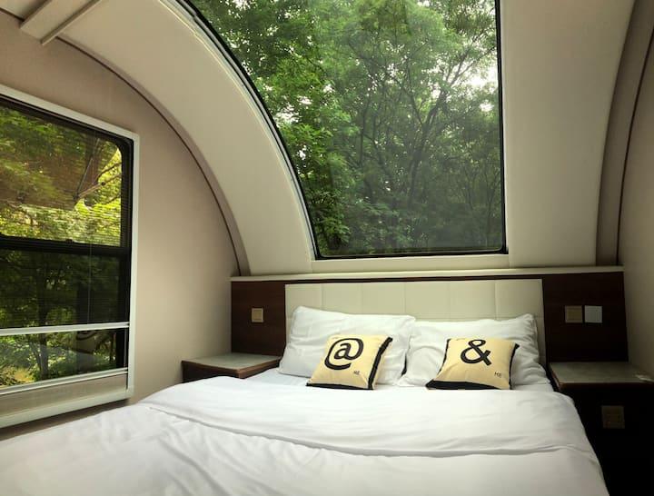 『森林房车营地』独立院落的森林星空房车