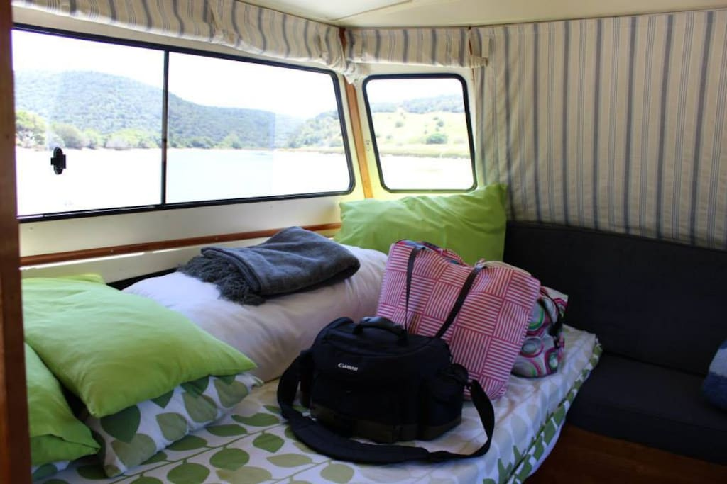 Spacious Bedroom Cabin with Privacy Blinds