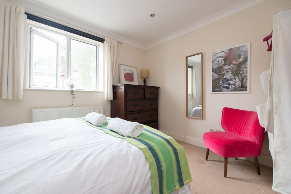 Bedroom 1 with double bed - view 2 (with ensuite shower room)
