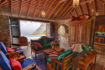Villa Piton Caribbean Castle