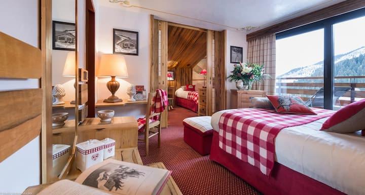 Hôtel AlpenRuitor****-Chambre Familiale Vue Pistes