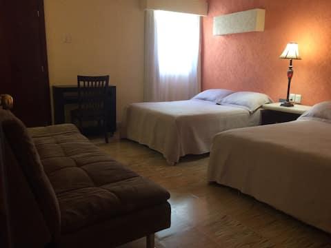 Habitación  dos camas   Hotel Tonalá en Chiapas