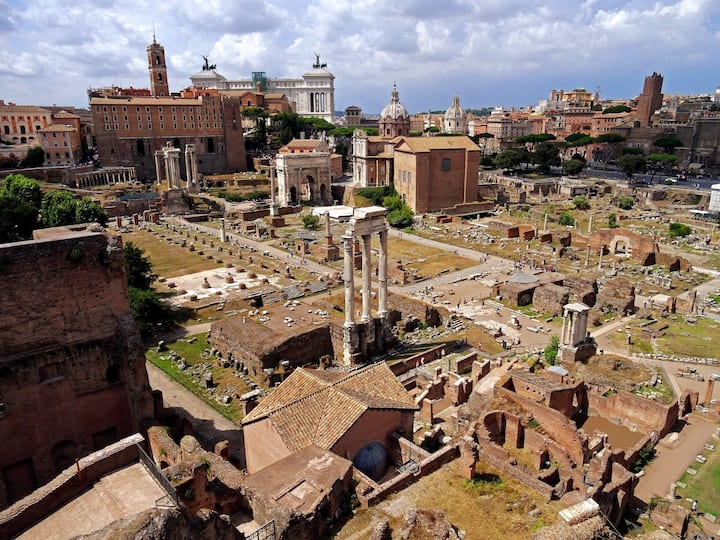 The stunning view of the Forum
