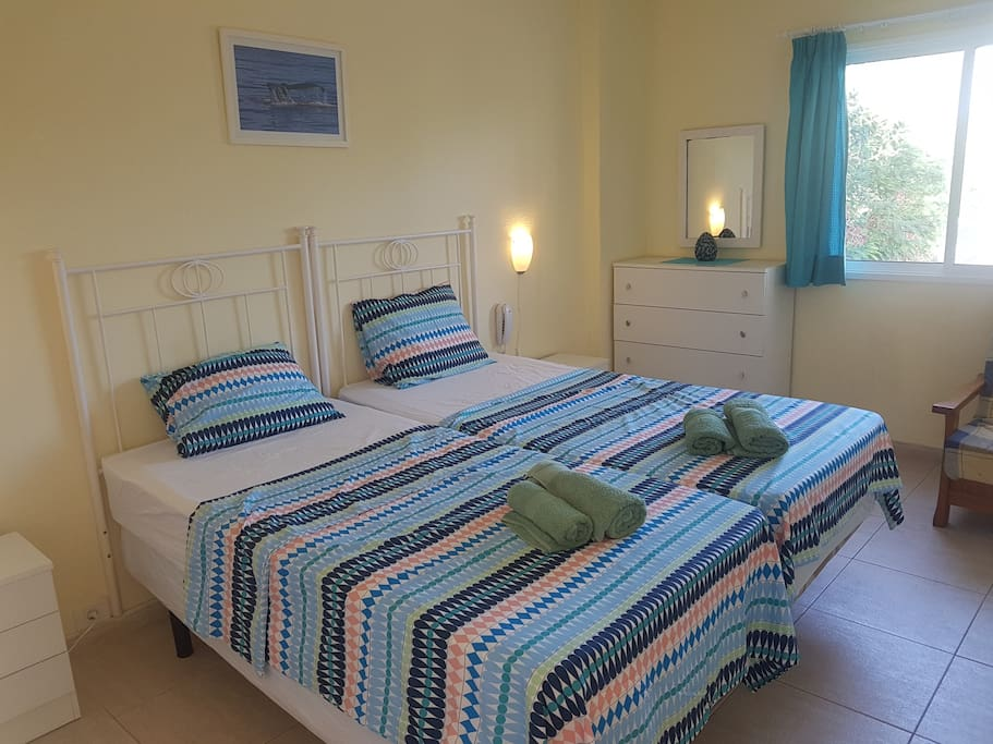 Bedroom - new mattresses on beds