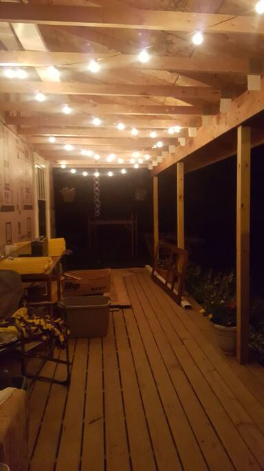Enjoy the evening or your morning coffee on our new(not quite finished) wrap around porch