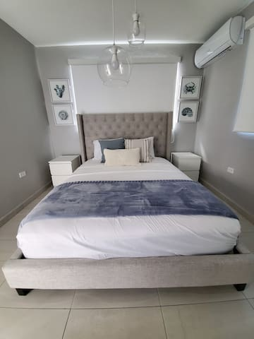 Bedroom #2, Queen Mattress  (Beach Decor)