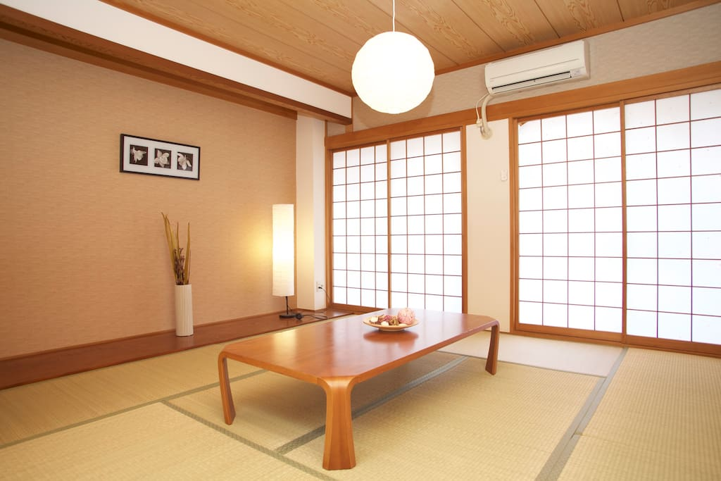 Japanese traditional tatami room in this house.