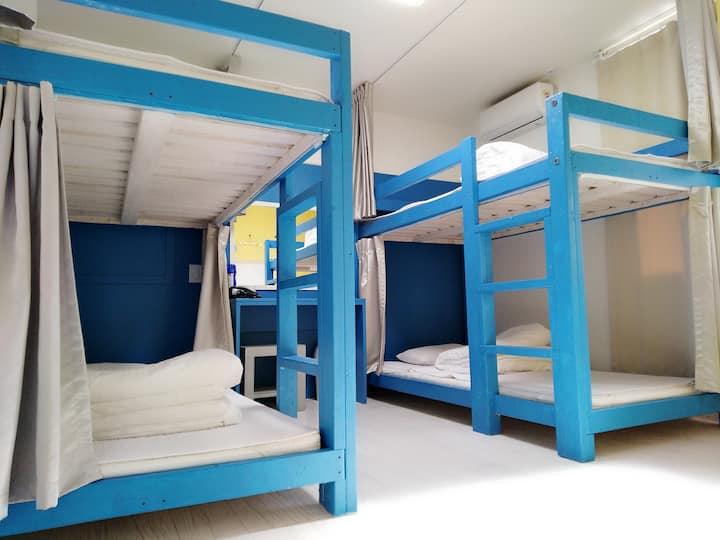 慢城青年旅馆-整洁简约方便的住宿~~^^四人男生宿舍(1张床位)