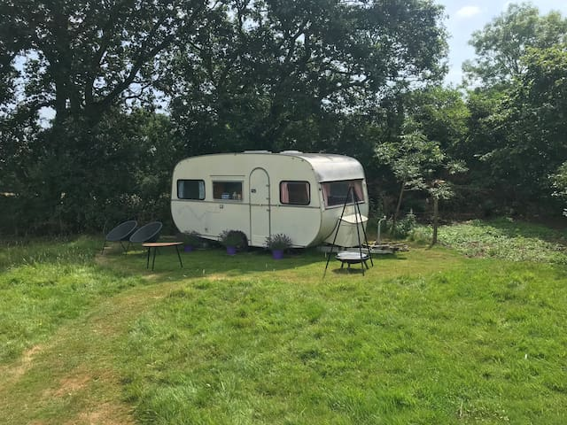 70's Chic Caravan in Rural Devon