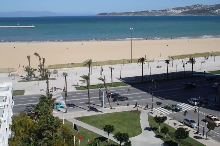 Beach front apartment malabata tangier sea views