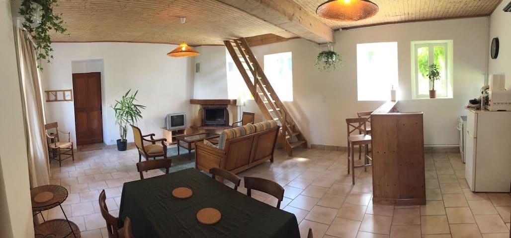 Salle à manger et salon - Dining and living room/
