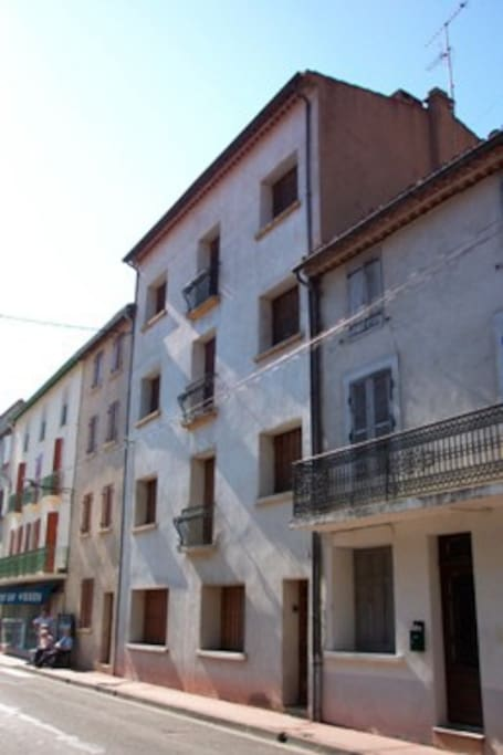 Facade against the main road