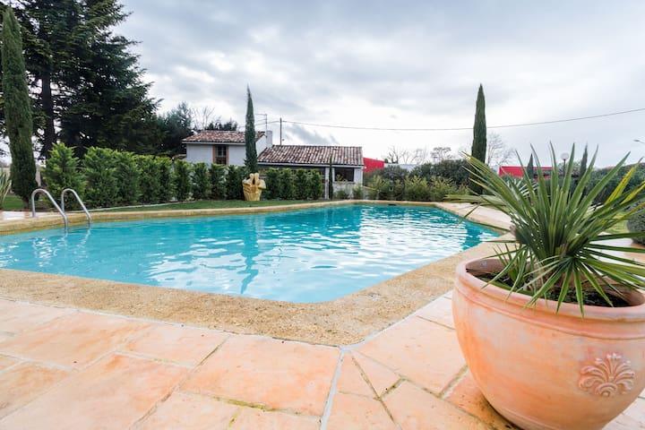 piscine chauffée pour temps maussade !!