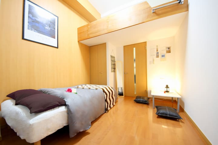 8min walk from Namba Sta. Cozy&Stylish Room+ Loft