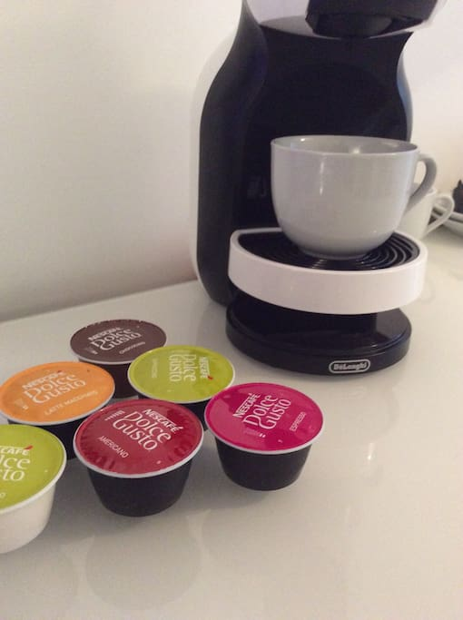 There's nothing like a hot fresh cup of coffee or chocochino from the Dulce Gusto machine in the morning!