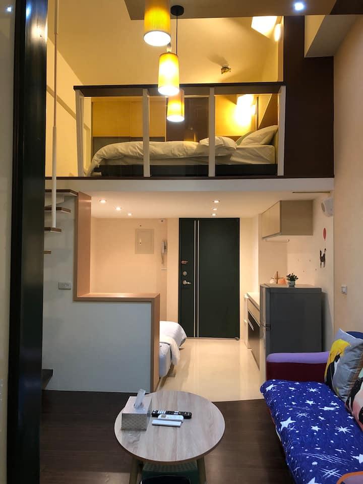 宜蘭礁溪花語民宿 家庭式 二-四人房 天然溫泉 樓中樓