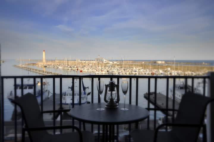 BALCON SUR LA MER et le Port de Sète