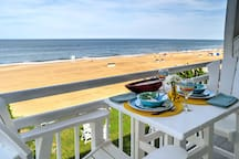 Enjoy the inspiring views along with a cool ocean breeze on this private balcony.