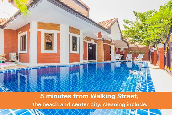 Villa G3 bedroom near Walking Street & beach ★★★★★