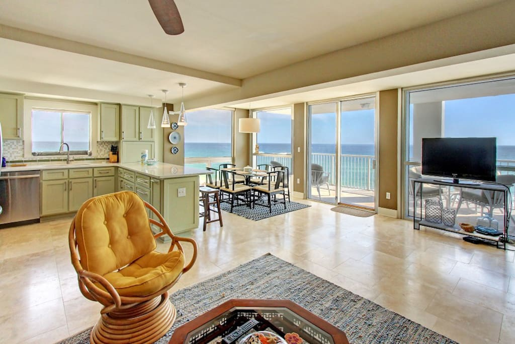 Fantastic Open Layout- Floor to Ceiling Gulf Views