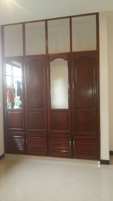 A big cupboard where clothes can Be Kept.. Its present in each room