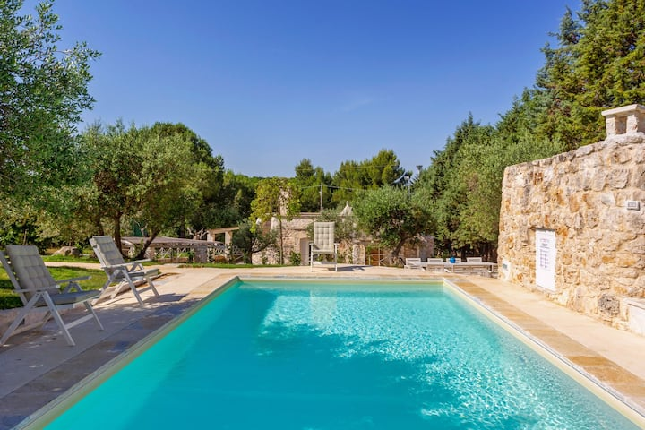 Beautifully updated trullo home w/ private seasonal pool & garden terrace!