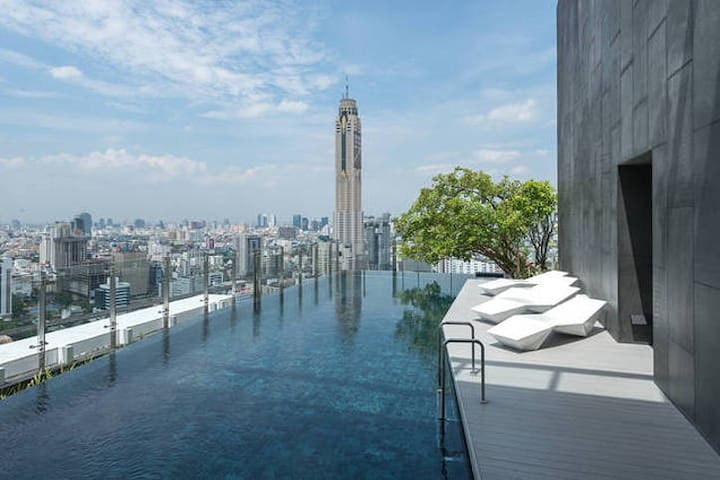 City Center Luxury Near MBK, Siam, WiFi, Pool, Gym - Bangkok - Huoneisto
