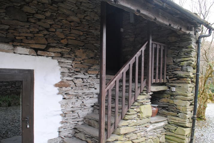 Stone steps to the Wool Loft