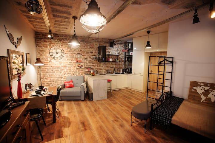 Apartament typu loft w centrum lubelskiej Starówki