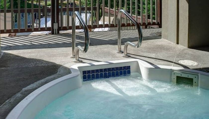 The hot tubs are perfect for relaxing at the end of a long day