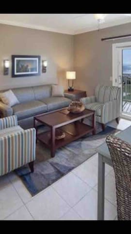Beautifully decorated living room with pullout sofa bed.(ocean view as well)