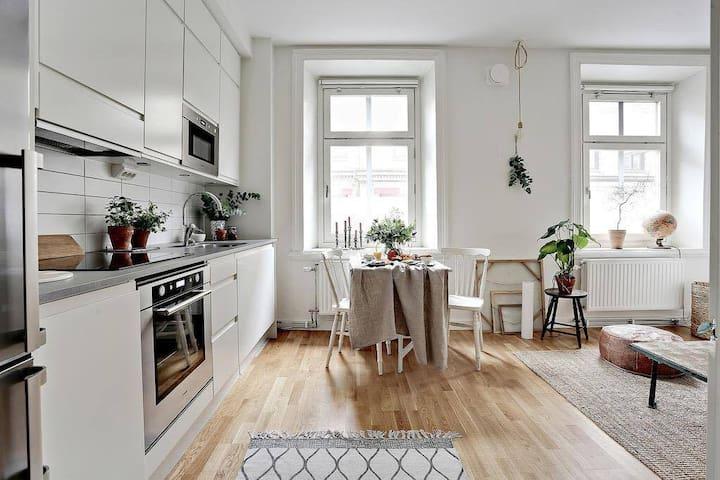 Mysig lägenhet med perfekt läge